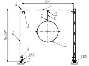 Рама для горизонтальных круглых воздуховодов