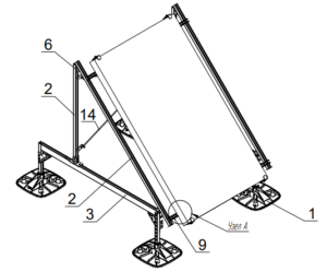 Опорная конструкция для установки солнечного коллектора