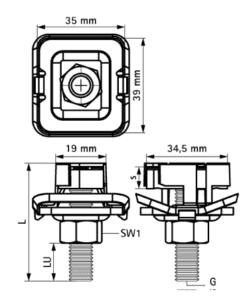 Болт быстрого монтажа G2 (BUP1000)